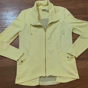 Zenergy by Chicos Zip Up Knit Hoodie Jacket S